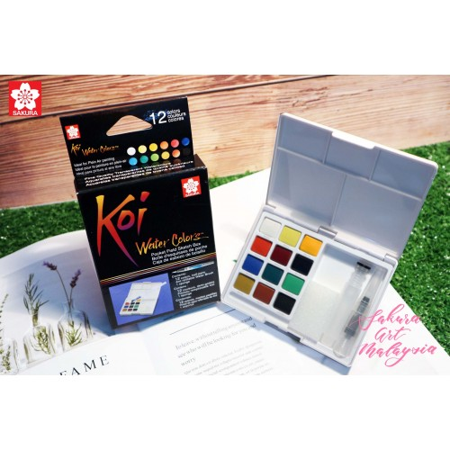 Koi Water Colors Pocket Field Sketch Box (12C)