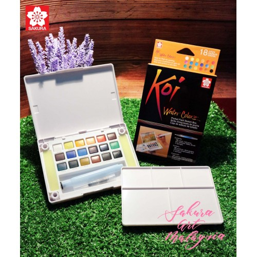Koi Water Colors Pocket Field Sketch Box (18C)