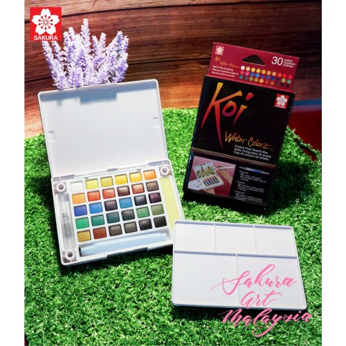 Koi Water Colors Pocket Field Sketch Box (30C)