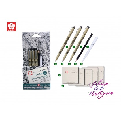 Sakura Zentangle White Tile-Tool Set A