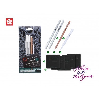 Sakura Zentangle Black Tile-Tool Set B
