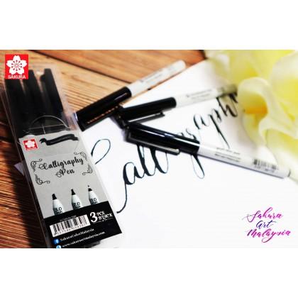 Sakura Calligraphy Pen (1.0mm+2.0mm+3.0mm)