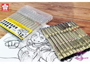 Sakura Pigma Micron Doodling Set (12's Black)