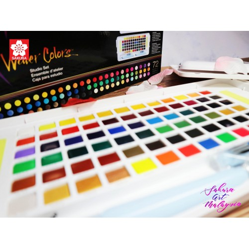 Sakura KOI Water Color Studio Set (72C)