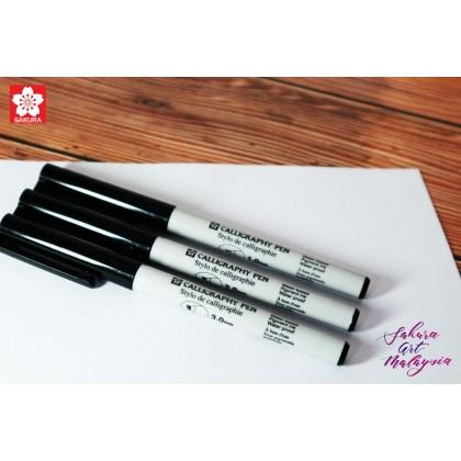 Sakura Calligraphy Pen (Black/Royal Blue)