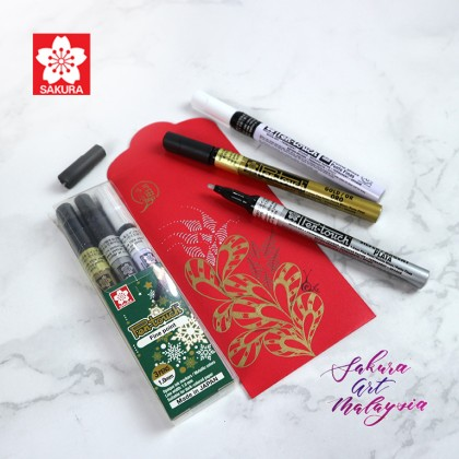 Pen-Touch Marker (3's Fine) + Red Packet (3's)