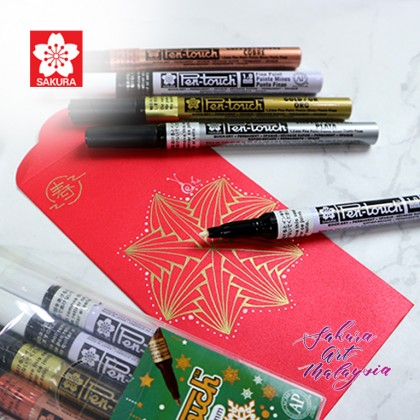Pen-Touch Marker (5's Fine) + Red Packet (3's)