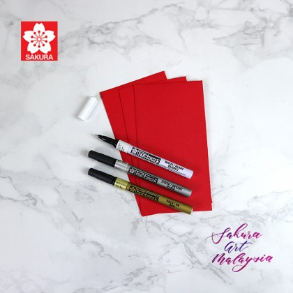 Pen-Touch Marker (3's Extra Fine) + Red Packet (3's)