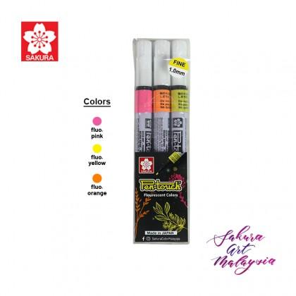 Pen-Touch Fluorescent (Fine) 3'S
